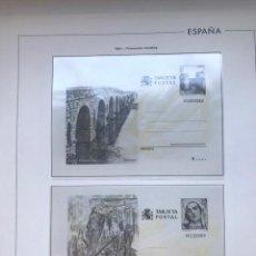 Sellos: HOJAS EDIFIL ESPAÑA AÑO 1984 COMPLETO CON TARJETAS POSTALES Y AEROGRAMAS 1984 HE80 84. Lote 211826200