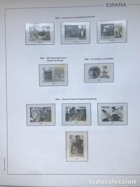 Sellos: Hojas Edifil España año 1984 completo con tarjetas postales y aerogramas 1984 HE80 84 - Foto 5 - 211826200