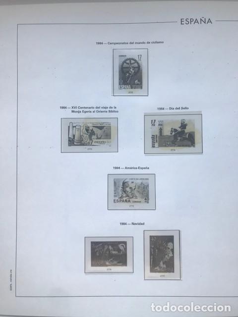Sellos: Hojas Edifil España año 1984 completo con tarjetas postales y aerogramas 1984 HE80 84 - Foto 9 - 211826200