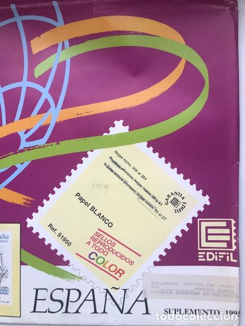 HOJAS EDIFIL ESPAÑA AÑO 1995 IMAGENESO EN COLOR Y MONTADO EN TRANSPARENTE 1995 HE90 (Sellos - Material Filatélico - Hojas)