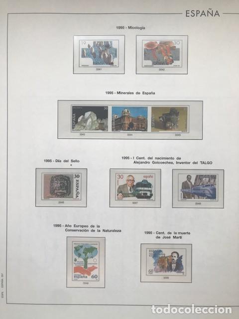 Sellos: Hojas Edifil España año 1995 imageneso en color y montado en transparente 1995 HE90 - Foto 3 - 211827470