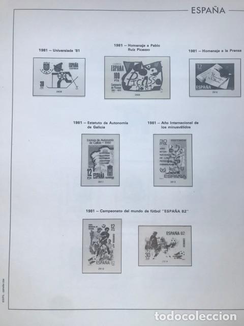 Sellos: Hojas Edifil España año 1981 HE80 81 con tarjetas postales y aerogramas en transparente - Foto 2 - 211828405
