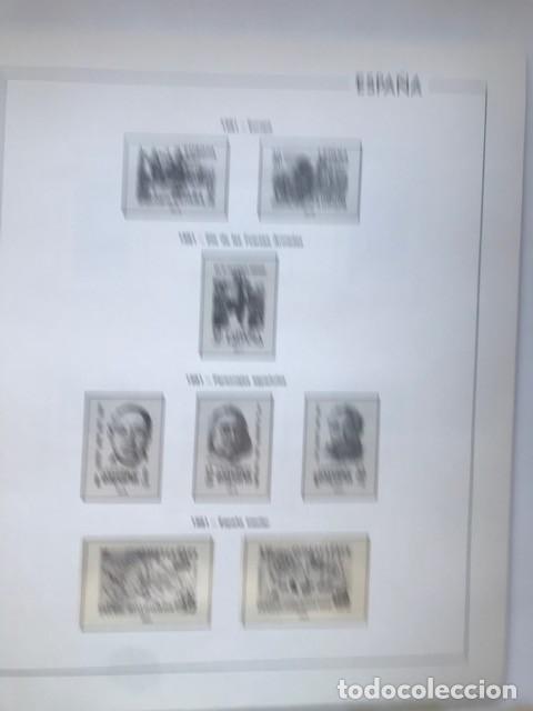 Sellos: Hojas Edifil España año 1981 HE80 81 con tarjetas postales y aerogramas en transparente - Foto 3 - 211828405