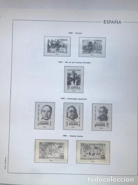 Sellos: Hojas Edifil España año 1981 HE80 81 con tarjetas postales y aerogramas en transparente - Foto 4 - 211828405