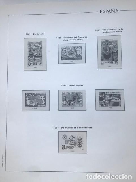 Sellos: Hojas Edifil España año 1981 HE80 81 con tarjetas postales y aerogramas en transparente - Foto 5 - 211828405