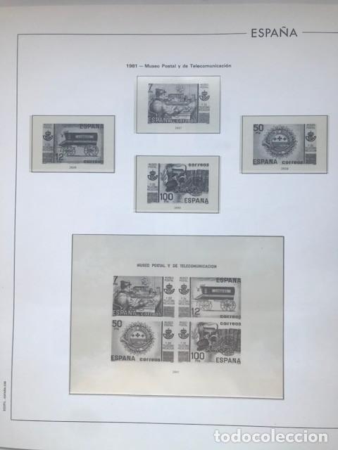 Sellos: Hojas Edifil España año 1981 HE80 81 con tarjetas postales y aerogramas en transparente - Foto 7 - 211828405