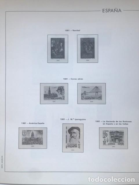 Sellos: Hojas Edifil España año 1981 HE80 81 con tarjetas postales y aerogramas en transparente - Foto 8 - 211828405