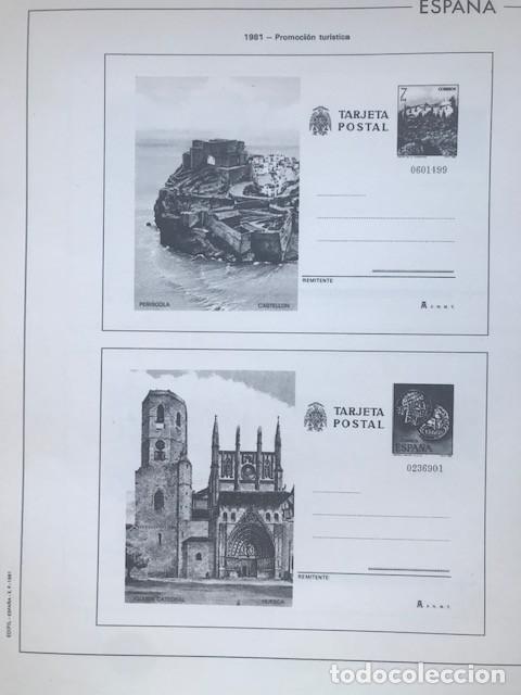 Sellos: Hojas Edifil España año 1981 HE80 81 con tarjetas postales y aerogramas en transparente - Foto 9 - 211828405