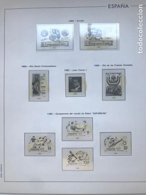 Sellos: Hojas Edifil España año 1982 año completo tarjetas postales y aerogramas en transparente HE80 82 - Foto 3 - 211829308