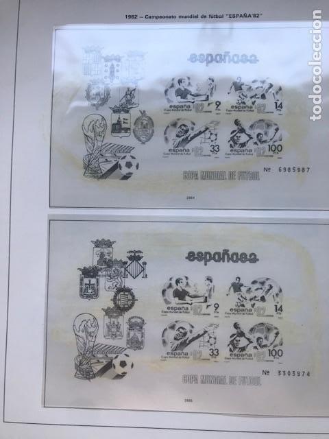Sellos: Hojas Edifil España año 1982 año completo tarjetas postales y aerogramas en transparente HE80 82 - Foto 4 - 211829308
