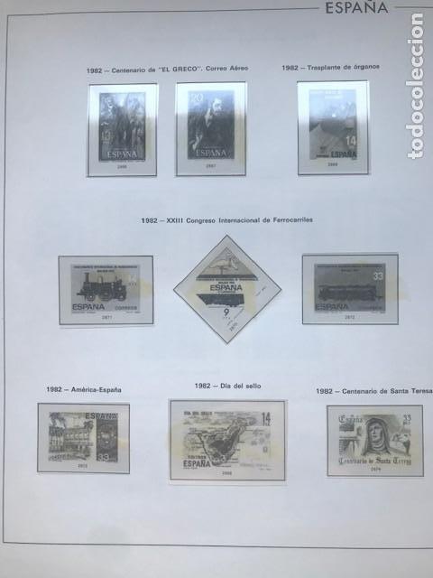 Sellos: Hojas Edifil España año 1982 año completo tarjetas postales y aerogramas en transparente HE80 82 - Foto 5 - 211829308