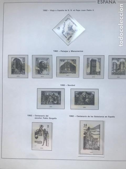 Sellos: Hojas Edifil España año 1982 año completo tarjetas postales y aerogramas en transparente HE80 82 - Foto 6 - 211829308