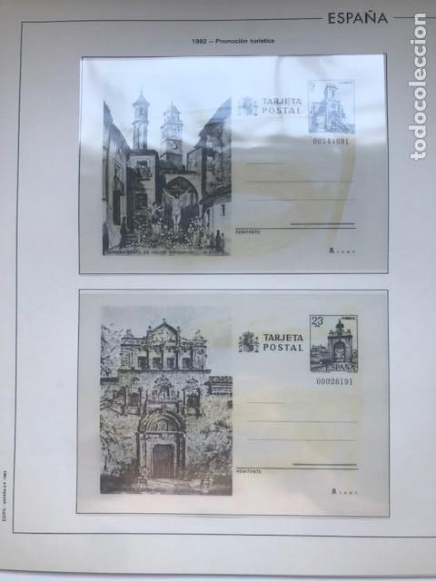 Sellos: Hojas Edifil España año 1982 año completo tarjetas postales y aerogramas en transparente HE80 82 - Foto 7 - 211829308