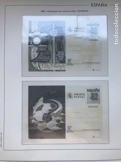 Sellos: Hojas Edifil España año 1982 año completo tarjetas postales y aerogramas en transparente HE80 82 - Foto 8 - 211829308