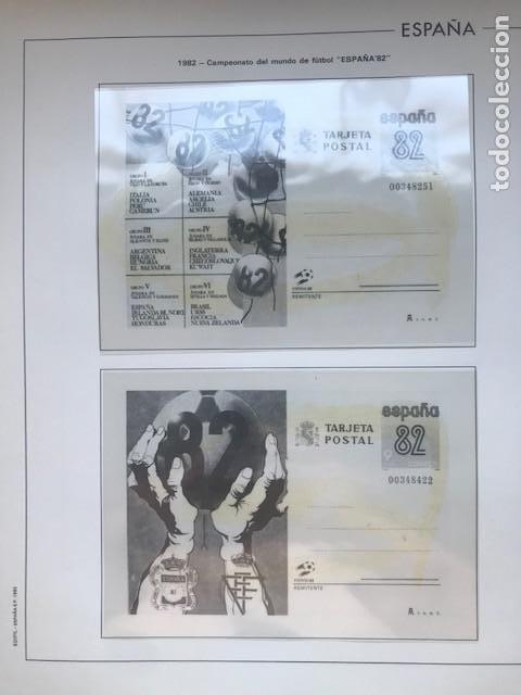 Sellos: Hojas Edifil España año 1982 año completo tarjetas postales y aerogramas en transparente HE80 82 - Foto 9 - 211829308