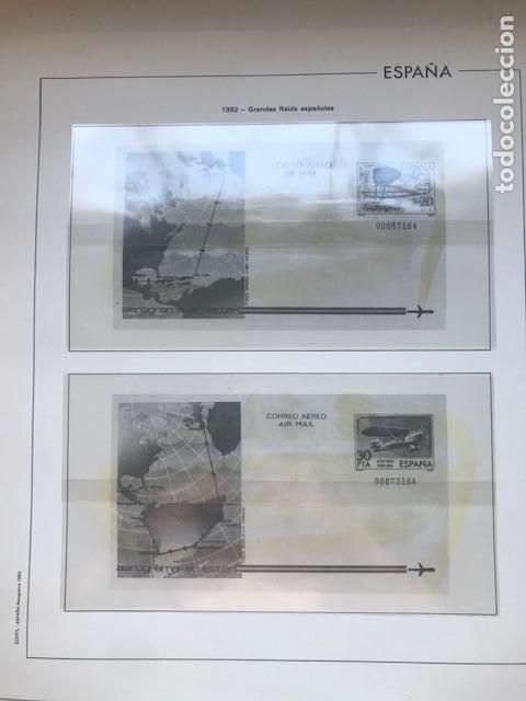 HOJAS EDIFIL ESPAÑA AÑO 1982 AÑO COMPLETO TARJETAS POSTALES Y AEROGRAMAS EN TRANSPARENTE HE80 82 (Sellos - Material Filatélico - Hojas)
