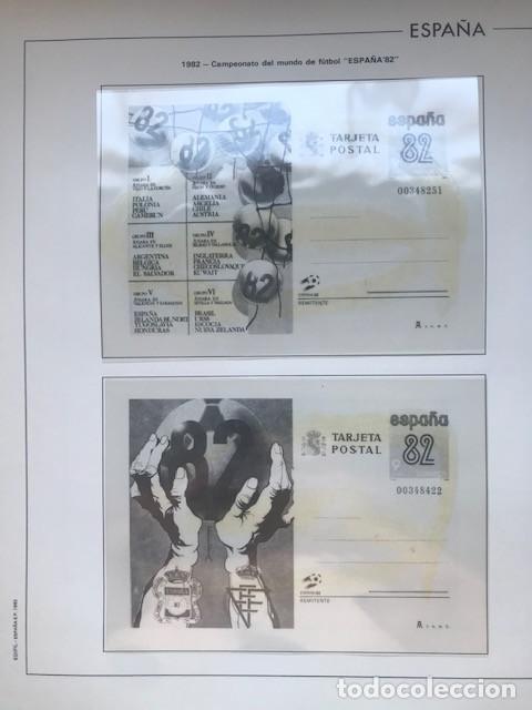 HOJAS EDIFIL ESPAÑA 1982 AÑO COMPLETO CON TARJETAS POSTALES Y AEROGRAMAS EN TRANSPARENTE HE80 82 (Sellos - Material Filatélico - Hojas)