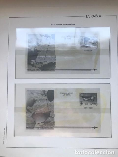 Sellos: Hojas Edifil España 1982 año completo con tarjetas postales y aerogramas en transparente HE80 82 - Foto 2 - 211829921