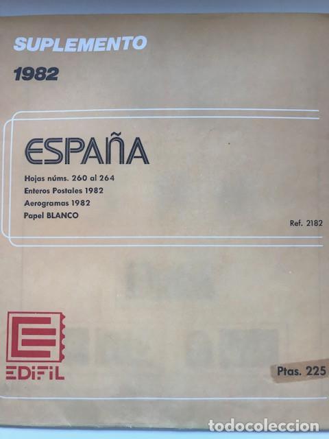 Sellos: Hojas Edifil España 1982 año completo con tarjetas postales y aerogramas en transparente HE80 82 - Foto 3 - 211829921