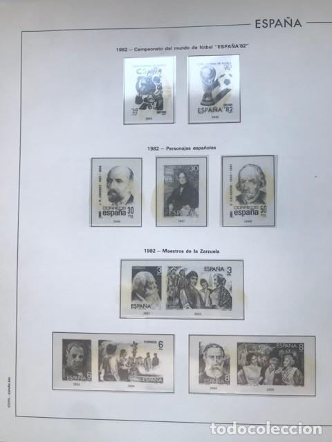 Sellos: Hojas Edifil España 1982 año completo con tarjetas postales y aerogramas en transparente HE80 82 - Foto 4 - 211829921