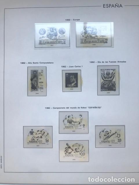 Sellos: Hojas Edifil España 1982 año completo con tarjetas postales y aerogramas en transparente HE80 82 - Foto 5 - 211829921