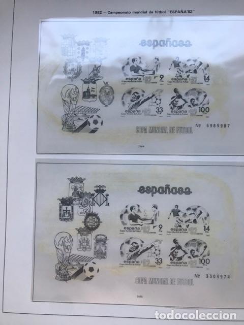Sellos: Hojas Edifil España 1982 año completo con tarjetas postales y aerogramas en transparente HE80 82 - Foto 6 - 211829921