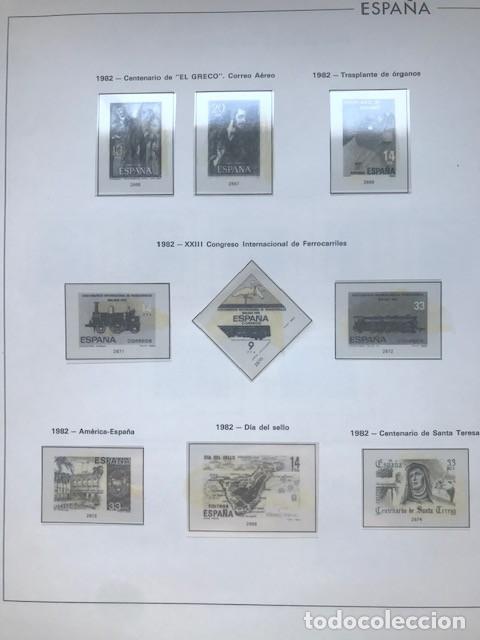 Sellos: Hojas Edifil España 1982 año completo con tarjetas postales y aerogramas en transparente HE80 82 - Foto 7 - 211829921