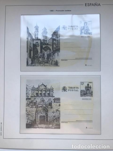 Sellos: Hojas Edifil España 1982 año completo con tarjetas postales y aerogramas en transparente HE80 82 - Foto 9 - 211829921