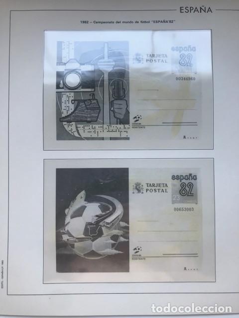Sellos: Hojas Edifil España 1982 año completo con tarjetas postales y aerogramas en transparente HE80 82 - Foto 10 - 211829921