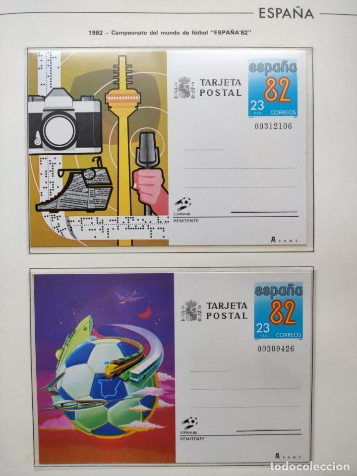 Sellos: Hojas Edifil España 1982 año completo con tarjetas postales y aerogramas en transparente HE80 - Foto 2 - 211872407