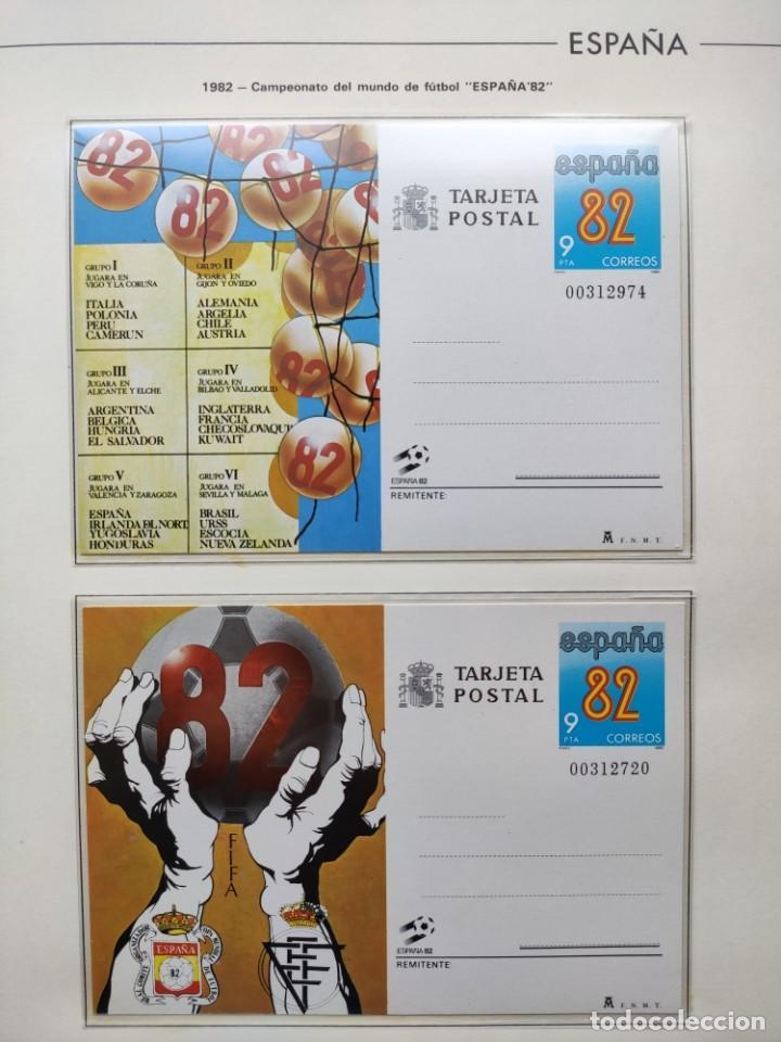 Sellos: Hojas Edifil España 1982 año completo con tarjetas postales y aerogramas en transparente HE80 - Foto 3 - 211872407