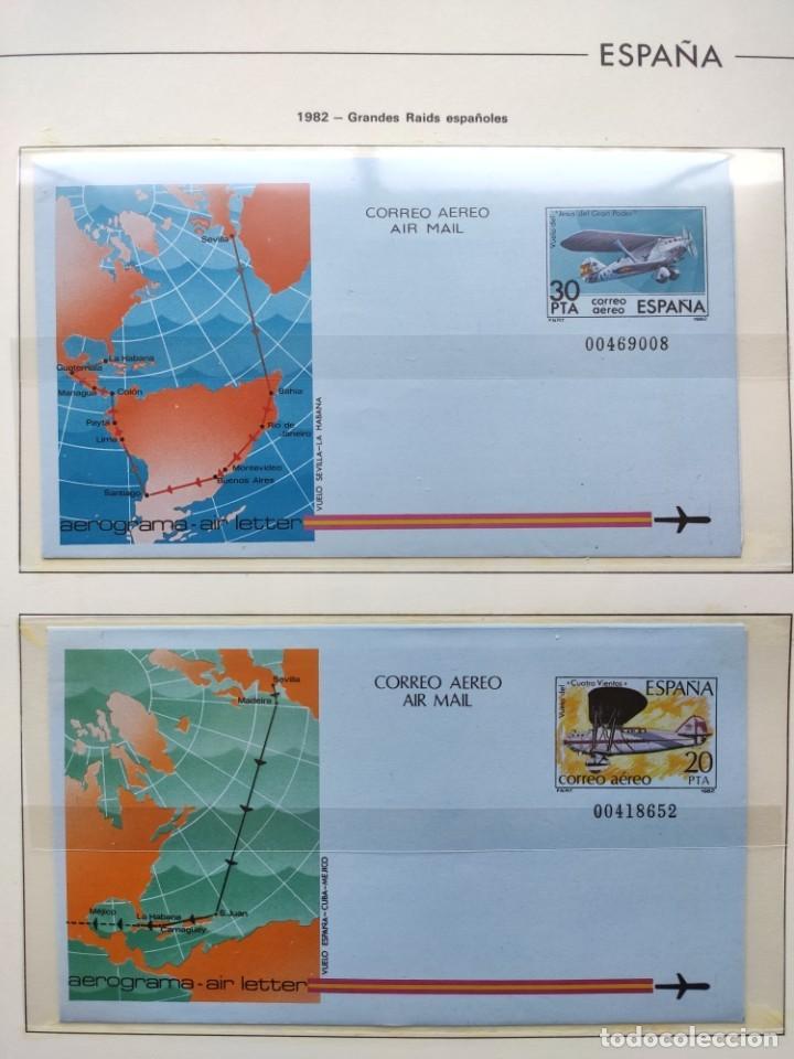 Sellos: Hojas Edifil España 1982 año completo con tarjetas postales y aerogramas en transparente HE80 - Foto 4 - 211872407