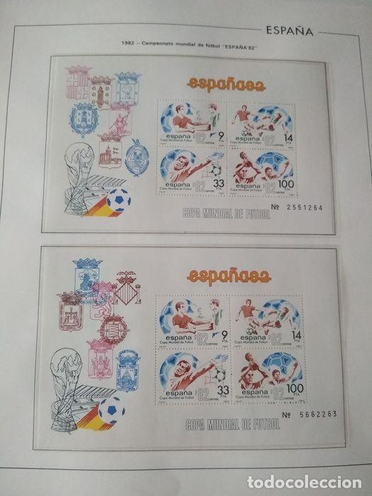 Sellos: Hojas Edifil España 1982 año completo con tarjetas postales y aerogramas en transparente HE80 - Foto 5 - 211872407