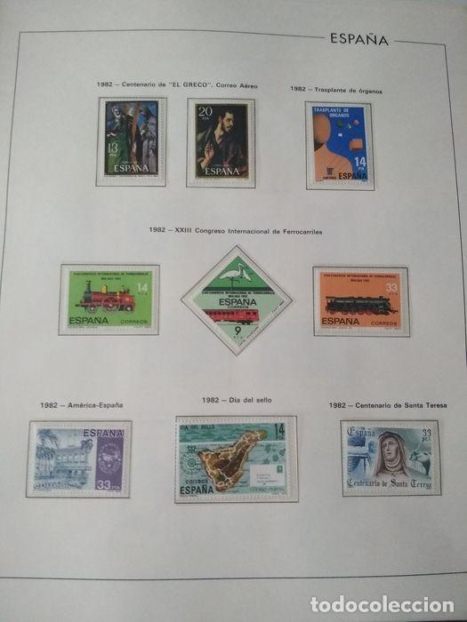 Sellos: Hojas Edifil España 1982 año completo con tarjetas postales y aerogramas en transparente HE80 - Foto 6 - 211872407