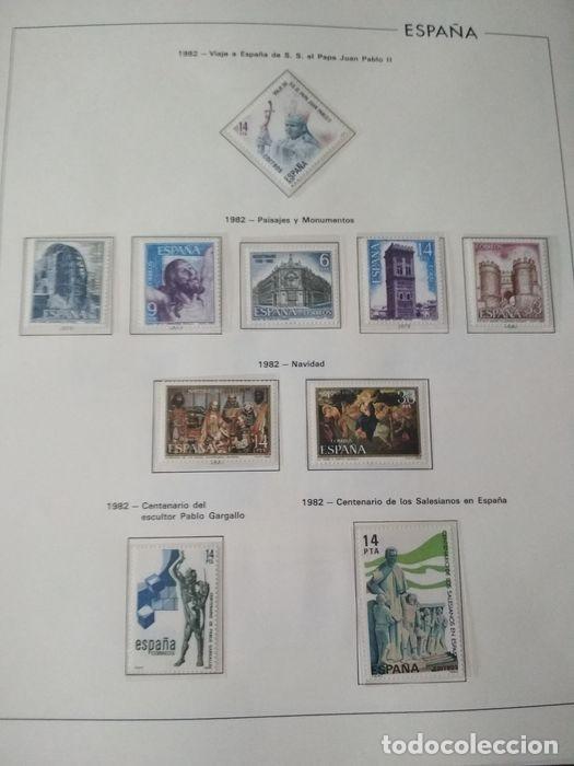Sellos: Hojas Edifil España 1982 año completo con tarjetas postales y aerogramas en transparente HE80 - Foto 7 - 211872407
