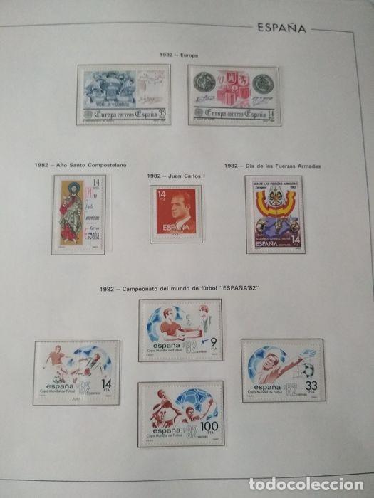 Sellos: Hojas Edifil España 1982 año completo con tarjetas postales y aerogramas en transparente HE80 - Foto 8 - 211872407