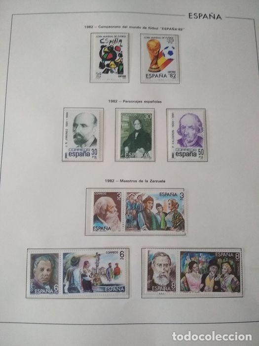 Sellos: Hojas Edifil España 1982 año completo con tarjetas postales y aerogramas en transparente HE80 - Foto 9 - 211872407