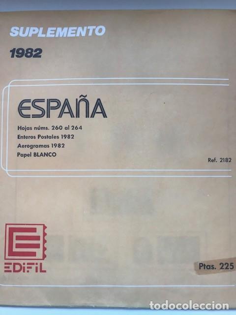 Sellos: Hojas Edifil España 1982 año completo con tarjetas postales y aerogramas en transparente HE80 - Foto 10 - 211872407