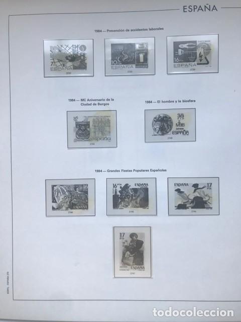 Sellos: Hojas Edifil España 1984 año completo con tarjetas postales y aerogramas en transparente HE80 84 - Foto 2 - 211873621