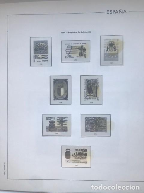 Sellos: Hojas Edifil España 1984 año completo con tarjetas postales y aerogramas en transparente HE80 84 - Foto 3 - 211873621