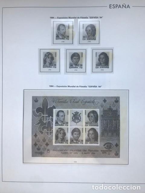 Sellos: Hojas Edifil España 1984 año completo con tarjetas postales y aerogramas en transparente HE80 84 - Foto 4 - 211873621
