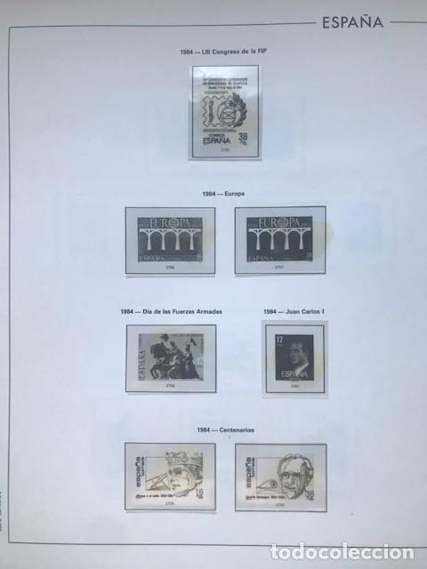 Sellos: Hojas Edifil España 1984 año completo con tarjetas postales y aerogramas en transparente HE80 84 - Foto 5 - 211873621