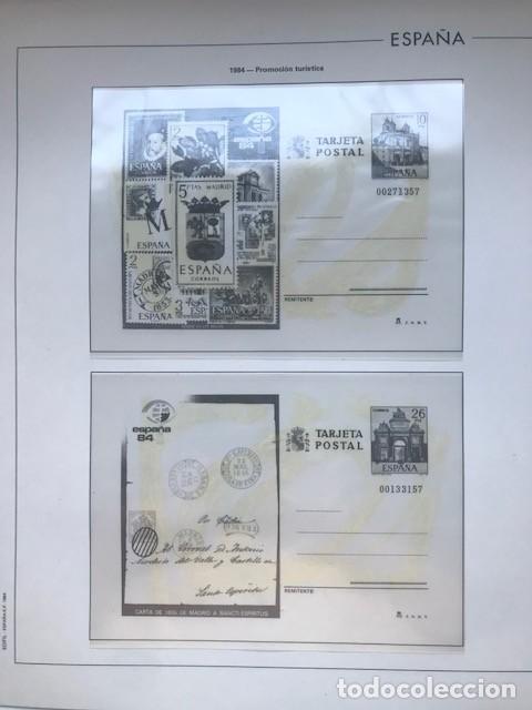 Sellos: Hojas Edifil España 1984 año completo con tarjetas postales y aerogramas en transparente HE80 84 - Foto 8 - 211873621