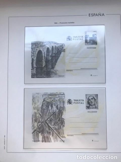 Sellos: Hojas Edifil España 1984 año completo con tarjetas postales y aerogramas en transparente HE80 84 - Foto 9 - 211873621
