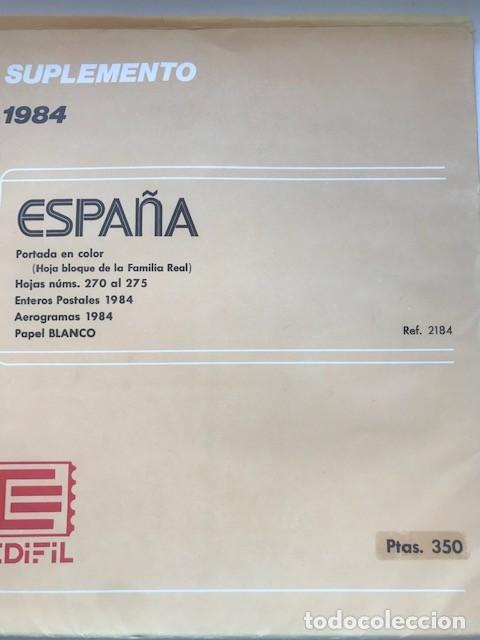 Sellos: Hojas Edifil España 1984 año completo con tarjetas postales y aerogramas en transparente HE80 84 - Foto 11 - 211873621