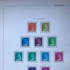 Sellos: HOJAS EDIFIL ESPAÑA 1977 MONTADO EN TRANSPARENTE SELLOS NO INCLUIDOS HE70. Lote 211875462