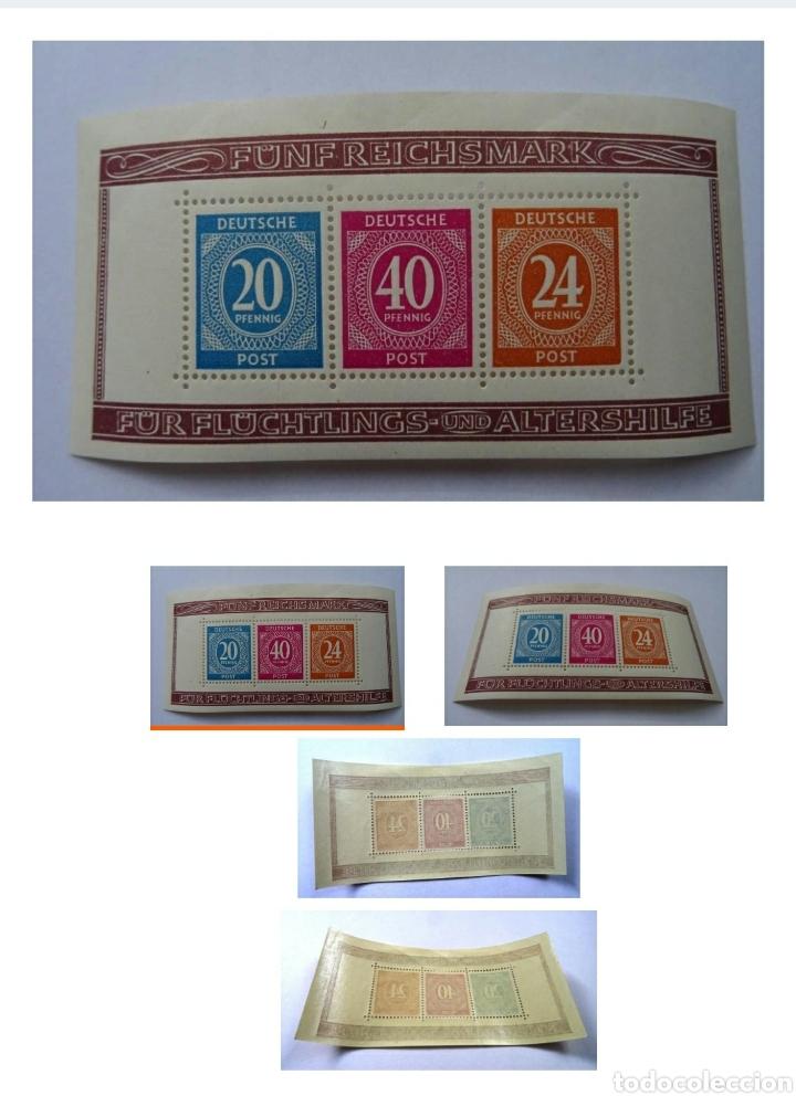 Sellos: Hoja Deutsche 1946-valioso Bloque 12 A 1946 serie completa - Foto 2 - 212290703