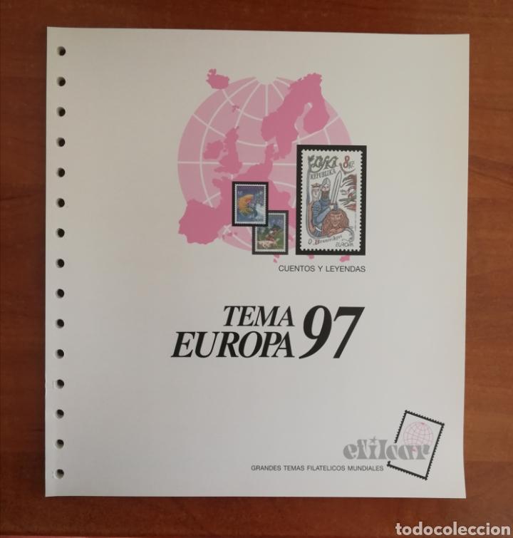 Sellos: ÁLBUM EFILCAR TEMA EUROPA CEPT AÑOS 1995/98 (FOTOGRAFÍA REAL) - Foto 5 - 212521463