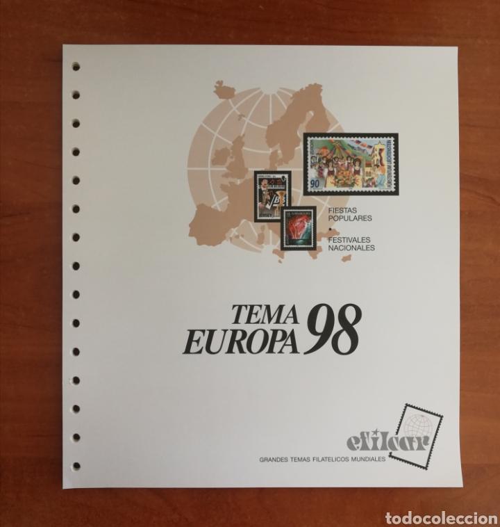 Sellos: ÁLBUM EFILCAR TEMA EUROPA CEPT AÑOS 1995/98 (FOTOGRAFÍA REAL) - Foto 6 - 212521463