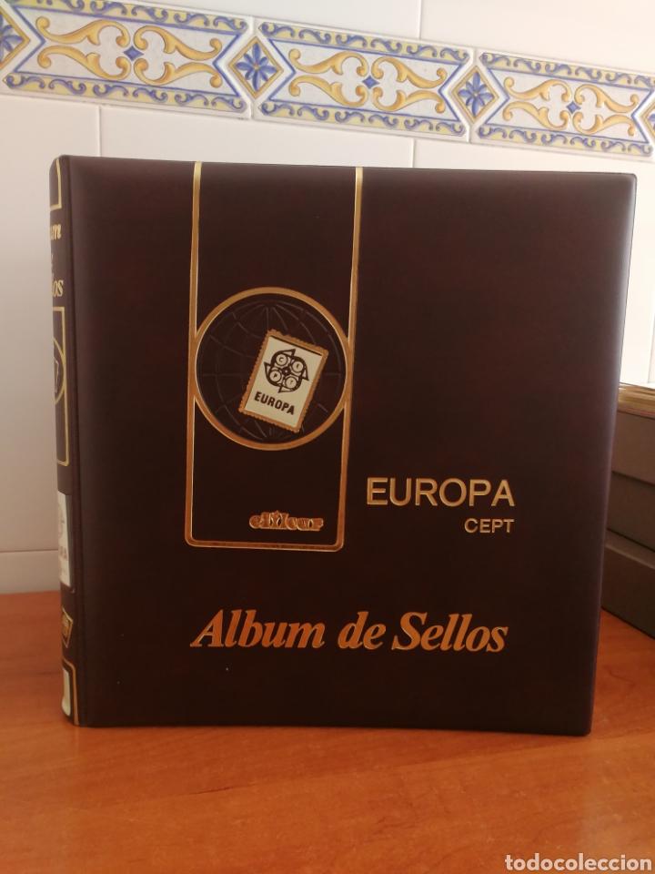 ÁLBUM EFILCAR TEMA EUROPA CEPT AÑOS 1995/98 (FOTOGRAFÍA REAL) (Sellos - Material Filatélico - Hojas)